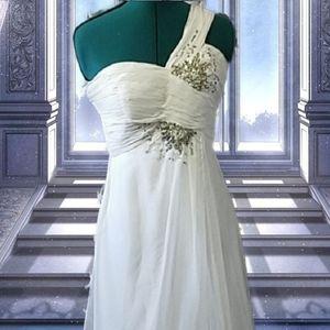 Flowy, jeweled,chaffon Cinderella dress